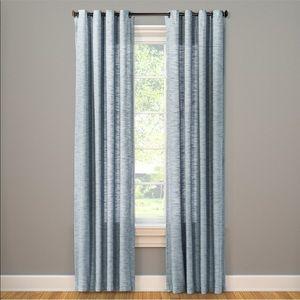 2-Threshold Diamond Weave Window Panel Curtains